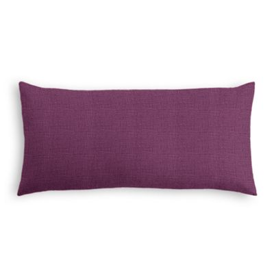 Magenta Purple Linen Lumbar Pillow