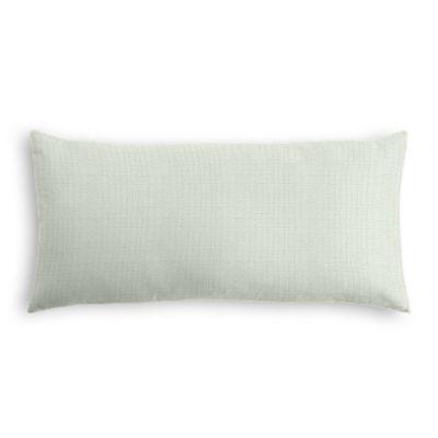 Pale Seafoam Slubby Linen Lumbar Pillow