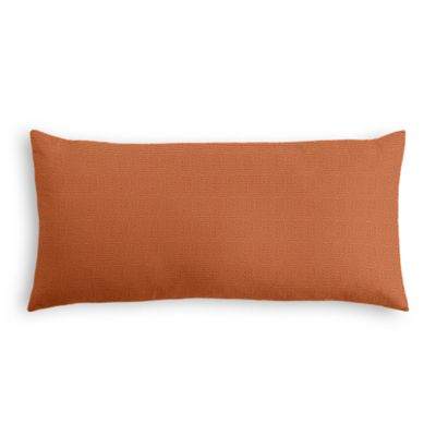 Burnt Orange Slubby Linen Lumbar Pillow