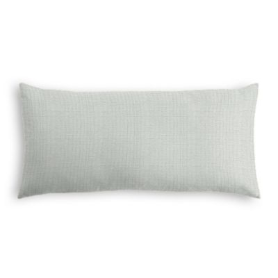 Pale Gray Slubby Linen Lumbar Pillow