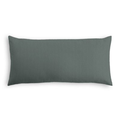 Charcoal Slubby Linen Lumbar Pillow