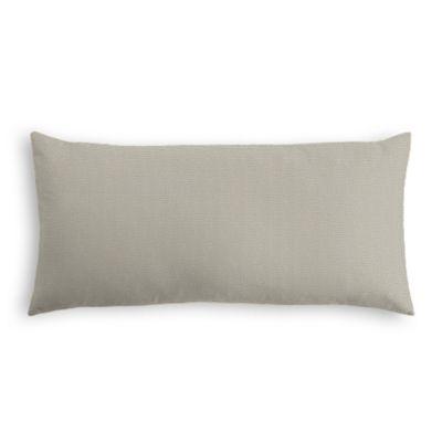 Beige Slubby Linen Lumbar Pillow