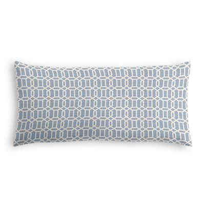 Sky Blue Lattice Lumbar Pillow