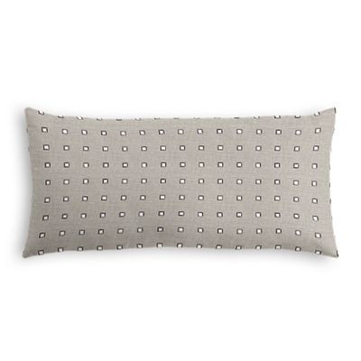 Silver Studded Taupe Lumbar Pillow