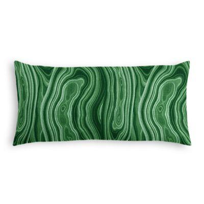 Marbled Green Malachite Lumbar Pillow