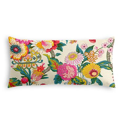 Candy-Colored Chinoiserie Lumbar Pillow
