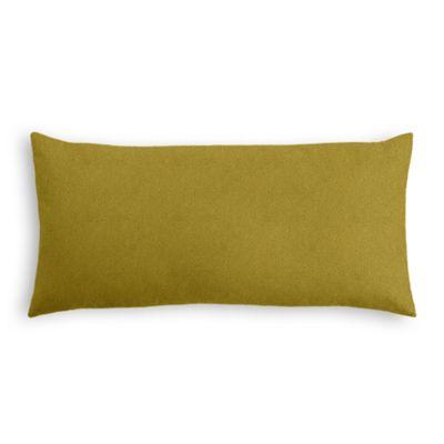 Chartreuse Green Velvet Lumbar Pillow