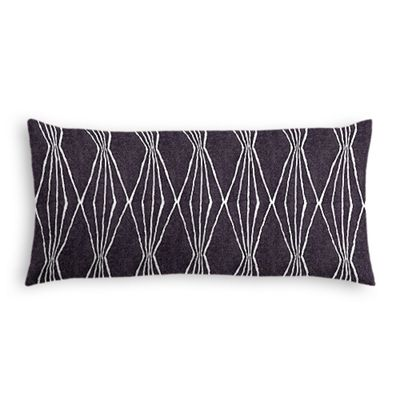 Black & White Diamond Lumbar Pillow
