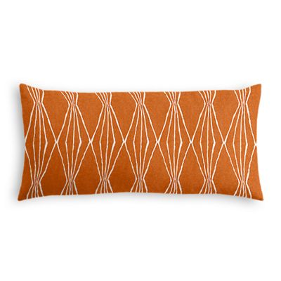 Burnt Orange Diamond Lumbar Pillow