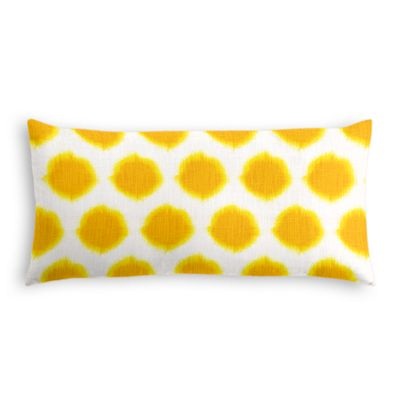 Bright Yellow Dot Lumbar Pillow