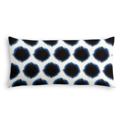 Black & Blue Dot Lumbar Pillow