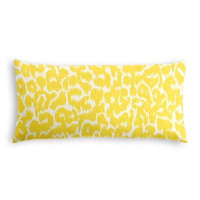 Yellow Leopard Print Lumbar Pillow