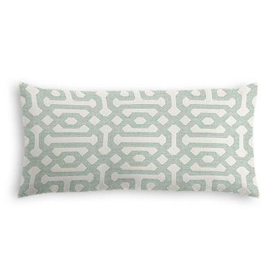 Pale Seafoam Trellis Lumbar Pillow