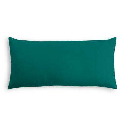 Teal Sunbrella® Canvas Lumbar Pillow