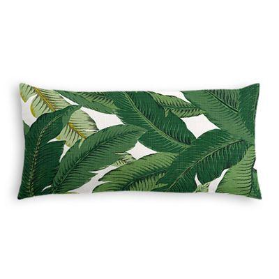 Green Banana Leaf Lumbar Pillow