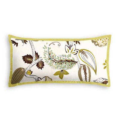 Green & Brown Botanical Lumbar Pillow