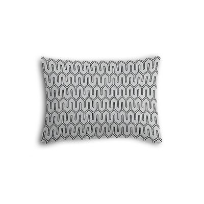 Pale Gray Geometric Boudoir Pillow