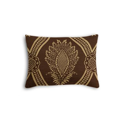 Brown Medallion Trellis Boudoir Pillow