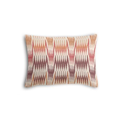 Orange & Pink Flame Stitch Boudoir Pillow