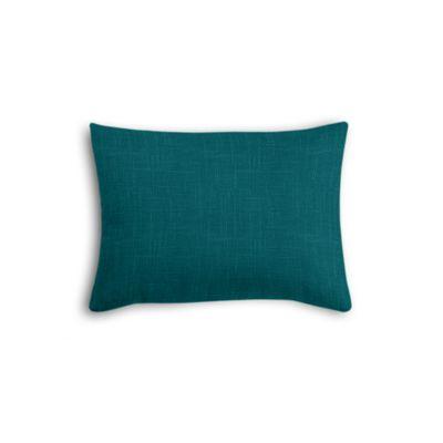 Dark Teal Linen Boudoir Pillow
