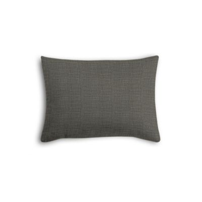 Charcoal Gray Linen Boudoir Pillow