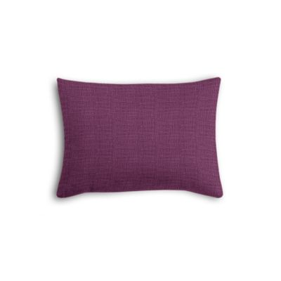 Magenta Purple Linen Boudoir Pillow