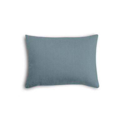 Slate Blue Slubby Linen Boudoir Pillow