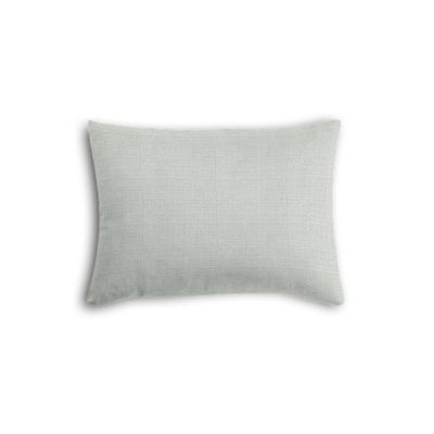 Pale Gray Slubby Linen Boudoir Pillow