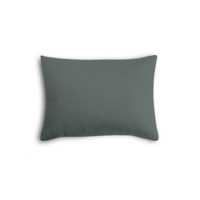 Charcoal Slubby Linen Boudoir Pillow