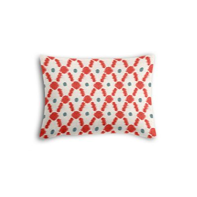 Red Ikat Diamond Boudoir Pillow