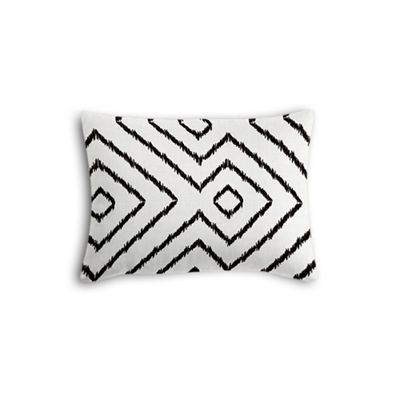 Black & White Diamond Boudoir Pillow