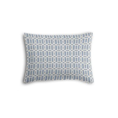 Sky Blue Lattice Boudoir Pillow