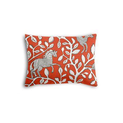 Red Animal Motif Boudoir Pillow