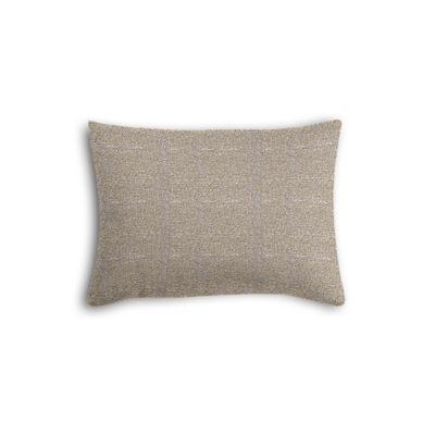 Silvery Gray Metallic Linen Boudoir Pillow