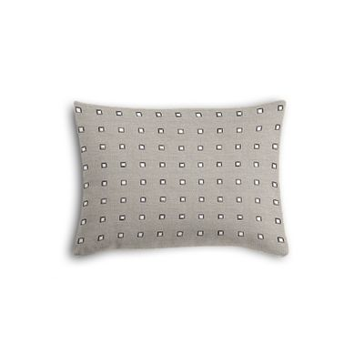 Silver Studded Taupe Boudoir Pillow