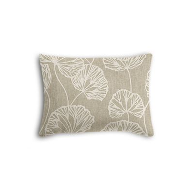 Beige Fan Leaf Boudoir Pillow