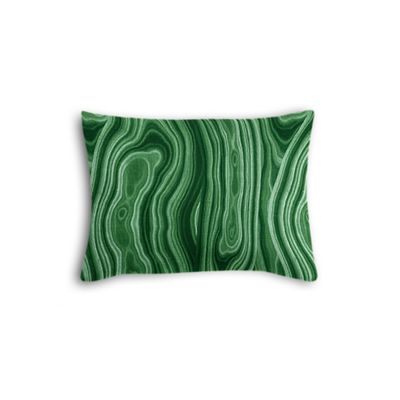 Marbled Green Malachite Boudoir Pillow