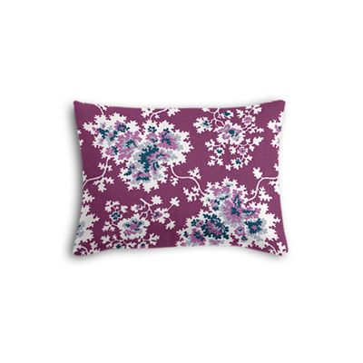 Purple & Teal Leaf Boudoir Pillow