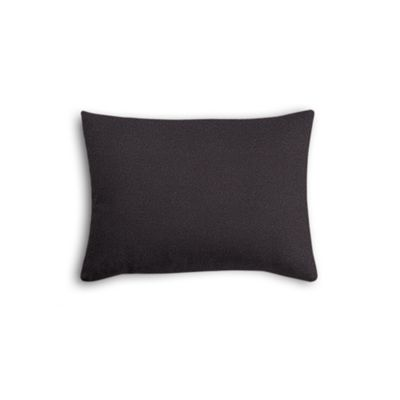 Charcoal Gray Velvet Boudoir Pillow