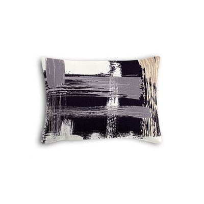 Black & White Brushstrokes Boudoir Pillow