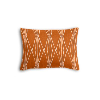 Burnt Orange Diamond Boudoir Pillow