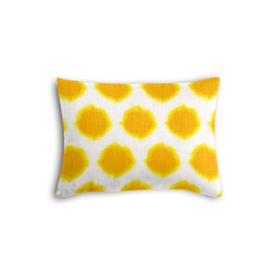 Bright Yellow Dot Boudoir Pillow