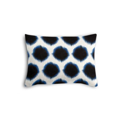 Black & Blue Dot Boudoir Pillow