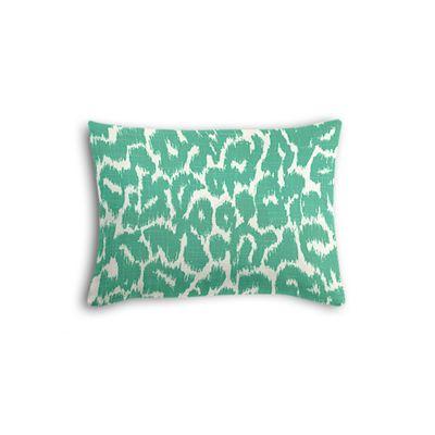 Bright Green Leopard Print Boudoir Pillow