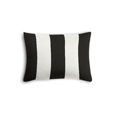 Black & White Awning Stripe Boudoir Pillow