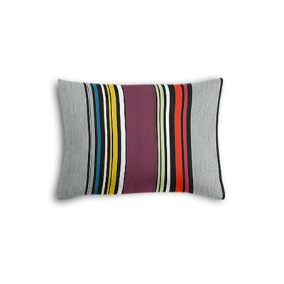 Purple Multicolor Striped Boudoir Pillow