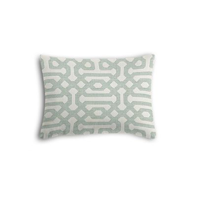 Pale Seafoam Trellis Boudoir Pillow