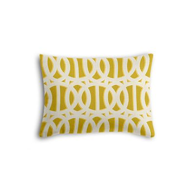 Bright Yellow Trellis Boudoir Pillow