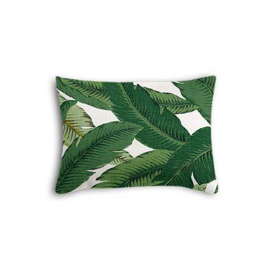 Green Banana Leaf Boudoir Pillow