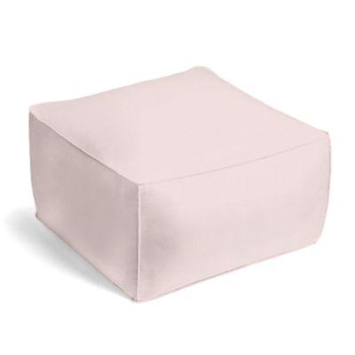 Pale Pink Linen Pouf